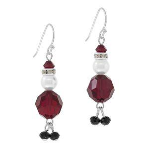 Great Gift Idea - Santa Earrings Kit Siam by FusionBeads.com | Fusion Beads