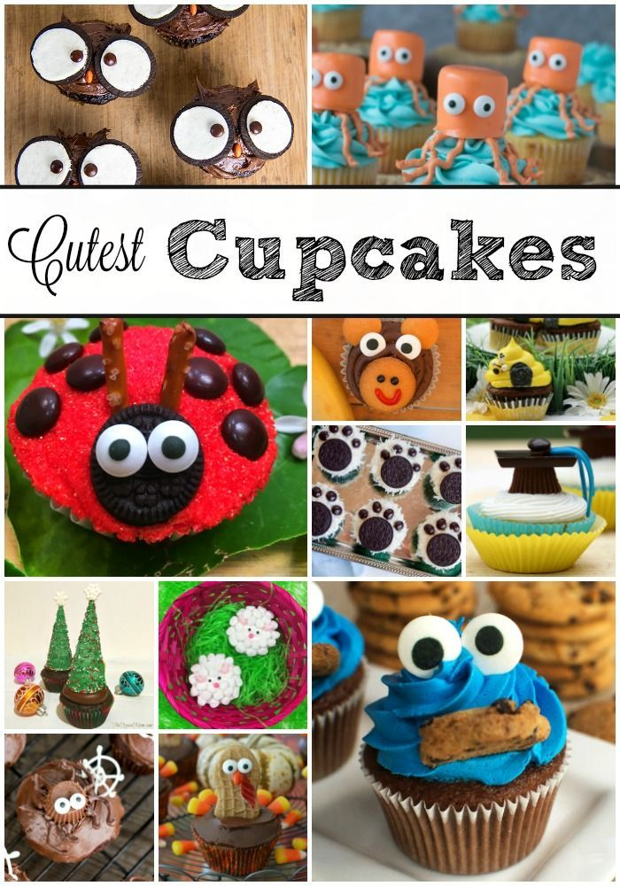 The cutest cupcake ideas ever!! Here is how you make tons of cute cupcakes for birthdays, holidays, graduations and more.