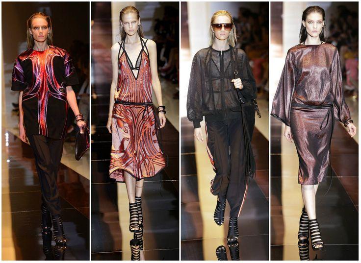 Diseños de la marca #Gucci, presentados durante el #MilanFashionWeek como parte de la colección #spring / #summer 2014 Fotos: Agencias #Fashion #FashionWeek #Dress #clothing #fashionstyle #Moda