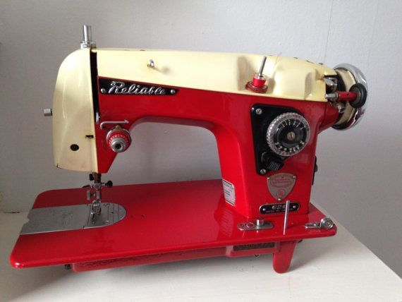 Buy Classics/Forget New Plastics: Art Deco RARE Red vintage sewing machine Made in Japan Model 620 Reliable brand