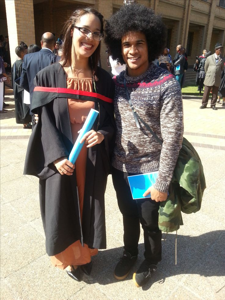 Tamed Afro and untamed afro, Congrats Graduation Day, Chante and I
