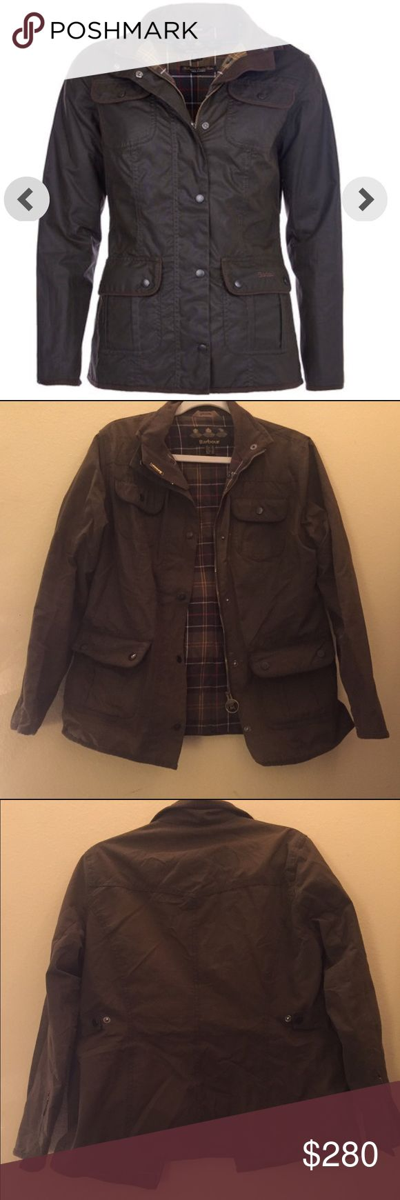 Selling this Barbour Women's Waxed Cotton Utility Jacket on Poshmark! My username is: cat_harman. #shopmycloset #poshmark #fashion #shopping #style #forsale #Barbour #Jackets & Blazers