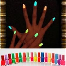 New 7ml 20 Colours Noctilucent Fluorescent Nail Polish Lacquer Noen Glow in Dark