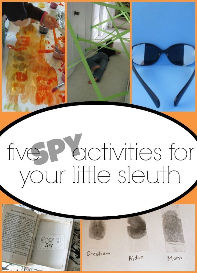 fun spy activities for kids! This will be great for spring break!