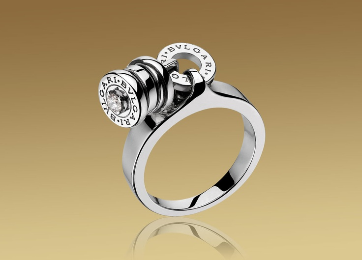 white gold charm ring by bulgari bvlgari ringunique