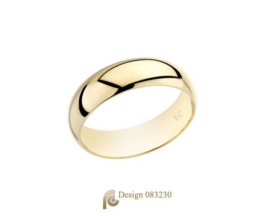 Plain gold Wedding Bands are a timeless classic.