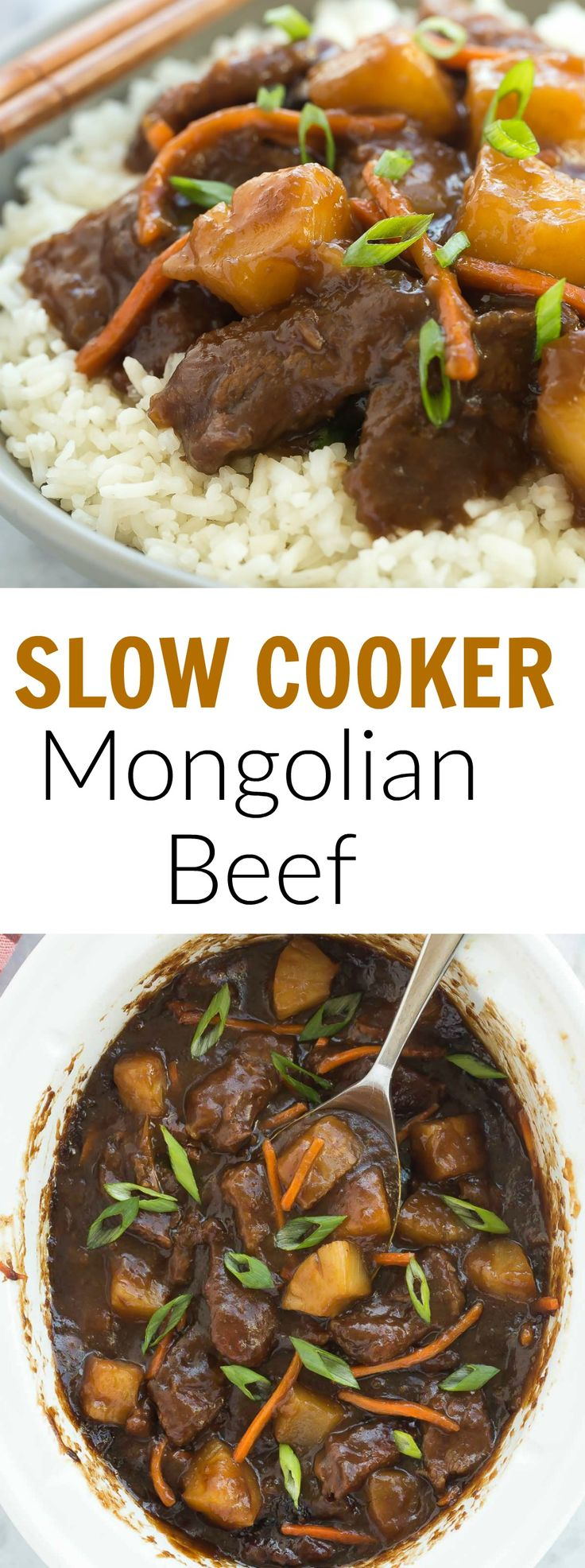This Slow Cooker Mongolian Beef is sweet, sticky and a little spicy ...