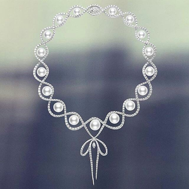Pearl necklace by @official_mikimoto The first Mikimoto pearl shop opened in Tokyo in 1899. The founder was Mikimoto Kōkichi, credited with creating the first cultured pearl #mikimoto