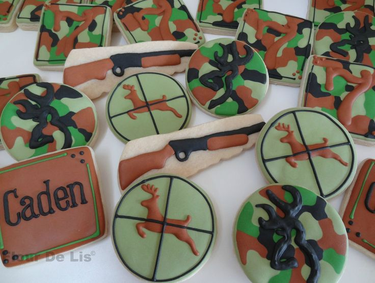 Camouflage/Hunting Cookies, by Flour De Lis