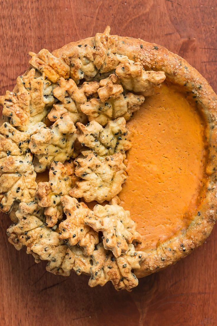 When aisha cooks how to make oatmeal custard my style aisha - Bourbon Pumpkin Pie With Black Sesame Crust