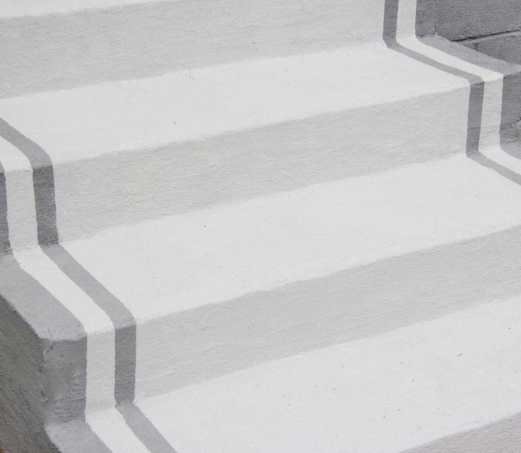 Painted concrete steps/porch