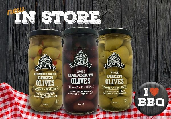 Grown on a family farm in the Macedonian region of Greece, our new Farm Boy™ Olives are only the best – Grade A from the very first pick of the season.  Plain or Stuffed, available in 7 varieties.