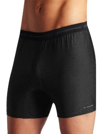 These boxers are high performance and low maintenance. Treated with Aegis Microbe Shield they're odor resistant and perfect for tricky climates and active adventures. Made from 94% Nylon/6% Spandex and are 4oz/sq yd.