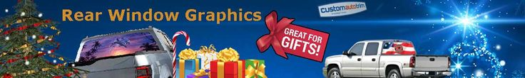 Rear Window Graphics make Great Christmas Gifts