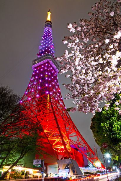 #Japan: #Tokyo Tower; I find myself wanting side-by-side prints of this tower  La Tour Eiffel..