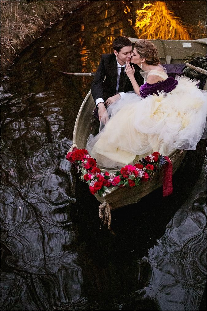 Enchanted Purple and Red Elopement Inspiration // see more on thesoutherncaliforniabride.com