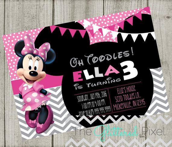 Printable Minnie Mouse Birthday Invitation  by TheGlitteredPixel