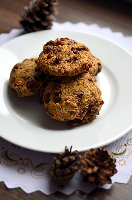 Raisin and chocolate cookies (gluten-free, no added white sugar) by Stories from Emona