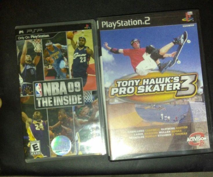 2 for 1 video games: NBA 09 The Inside PSP game, Tony Hawks Pro Skater 3 PS2