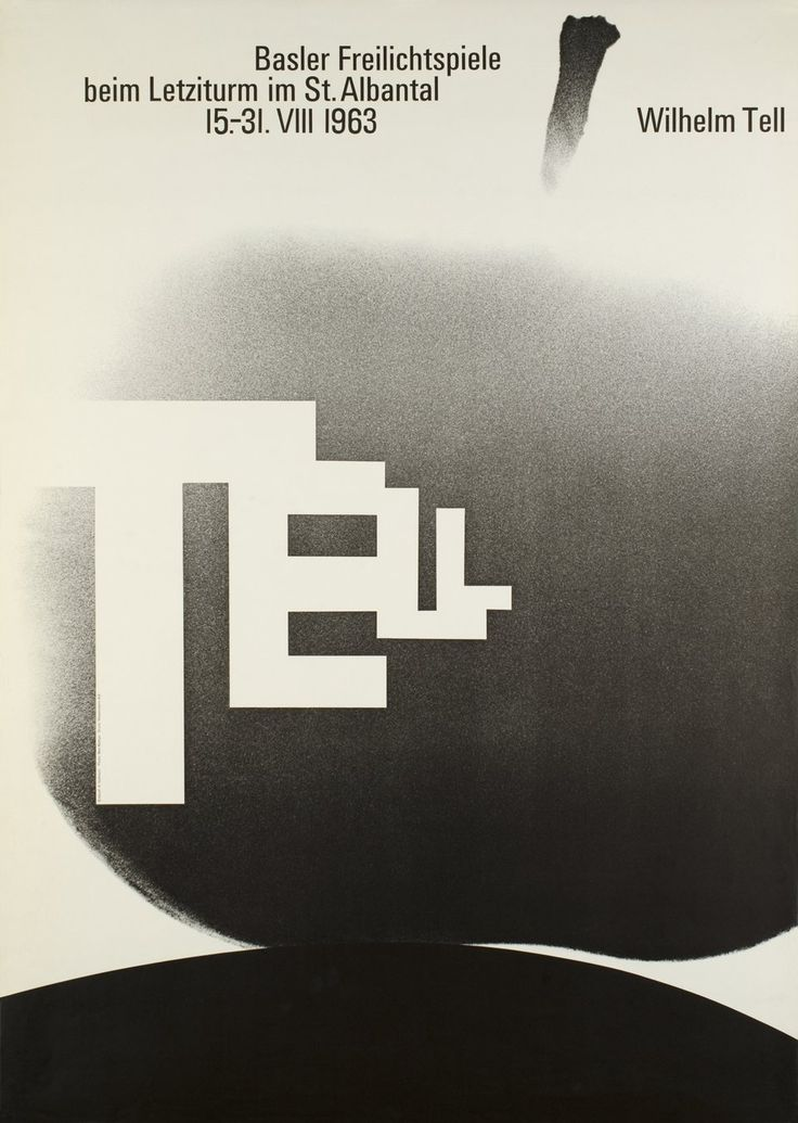 TELL Basler freilichtspiele, Wilhelm Tell  Armin HOFMANN  Prix de l'affiche suisse 1963