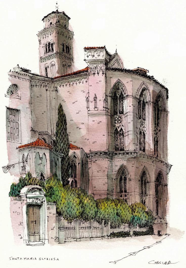 Towers in venice chris lee art journal pinterest for Chris lee architect