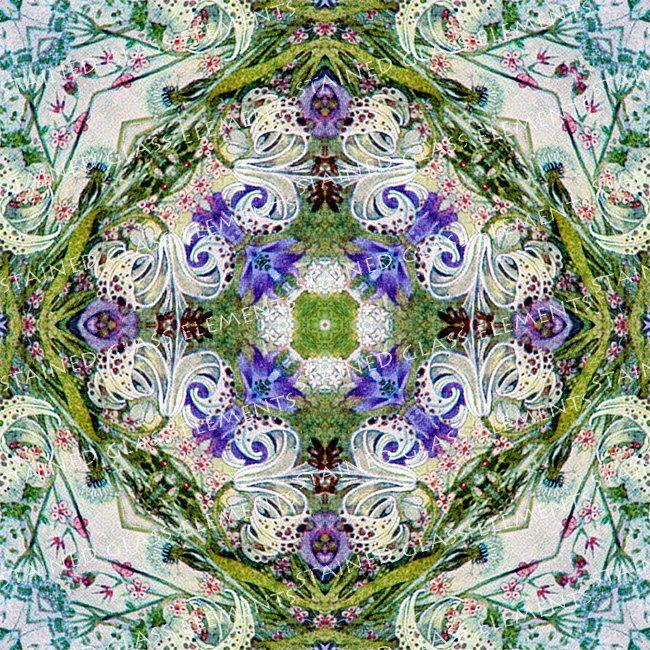 Ceramic decal flowers, size 10 x 10cm (3.94 x 3.94 inch), firing temperature 1400-1562 ºF, ceramic decal tile, kaleidoscope ceramic decal door StainedGlassElements op Etsy