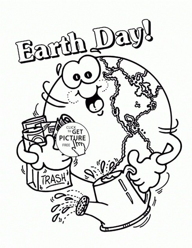Pin On Coloring Pages For Kids Preschool earth day coloring pages