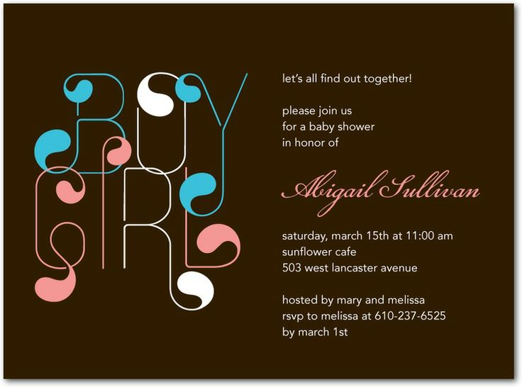 Gender Reveal Baby Shower Invitations: Today's Staff Picks | Gender reveal, Gender and Shower ...