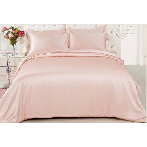 Amazon.com - Soft Silker Luxury Silk Sheets Sets 100% Mulberry Silk... ($19) ❤ liked on Polyvore featuring home, bed & bath, bedding, queen bed linens, mulberry silk bedding, silk bedding, queen bedding and silk bed linen