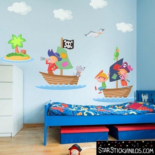 M s de 1000 ideas sobre decoraci n de habitaci n pirata en - Vinilos para habitaciones infantiles ...