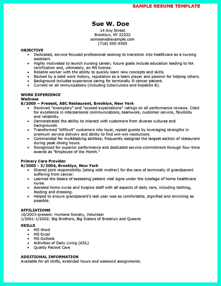 62 best images about resume on Pinterest Entry level, Examples - examples of cna resumes