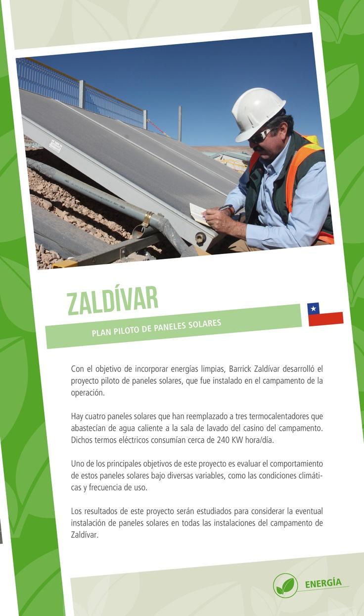Barrick Zaldívar: Plan piloto de paneles solares - Infografía completa en el sitio de Barrick Sudamérica http://barricksudamerica.com