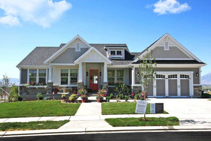 48 best images about home plans on pinterest home design for Craftsman model homes