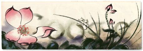 Beautiful Google doodle for Zhang Daqian's 112th Birthday. With Chrome's Favorite Doodle extension, you can set your favorite doodle as your default doodle.