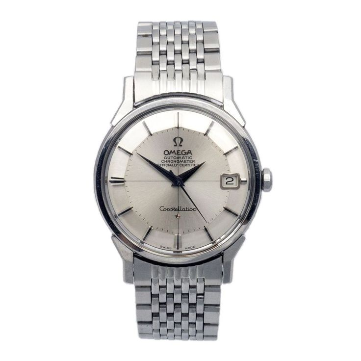 Omega Constellation PiePan, steel with rice bracelet via MarCels. Click on the image to see more!