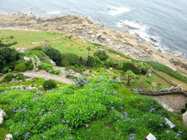 MARAZION:  The gardens of St. Michael's Mount, Cornwall https://destinationfiction.blogspot.ca/2016/10/coastal-marvels-of-cornwall.html