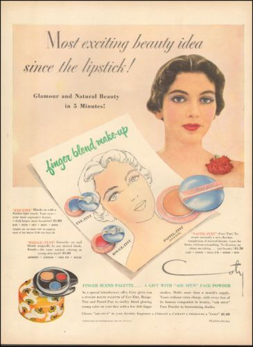 1950-Vintage-ad-for-Coty-034-Air-Spun-034-Face-Powder-retro-fashion-030517