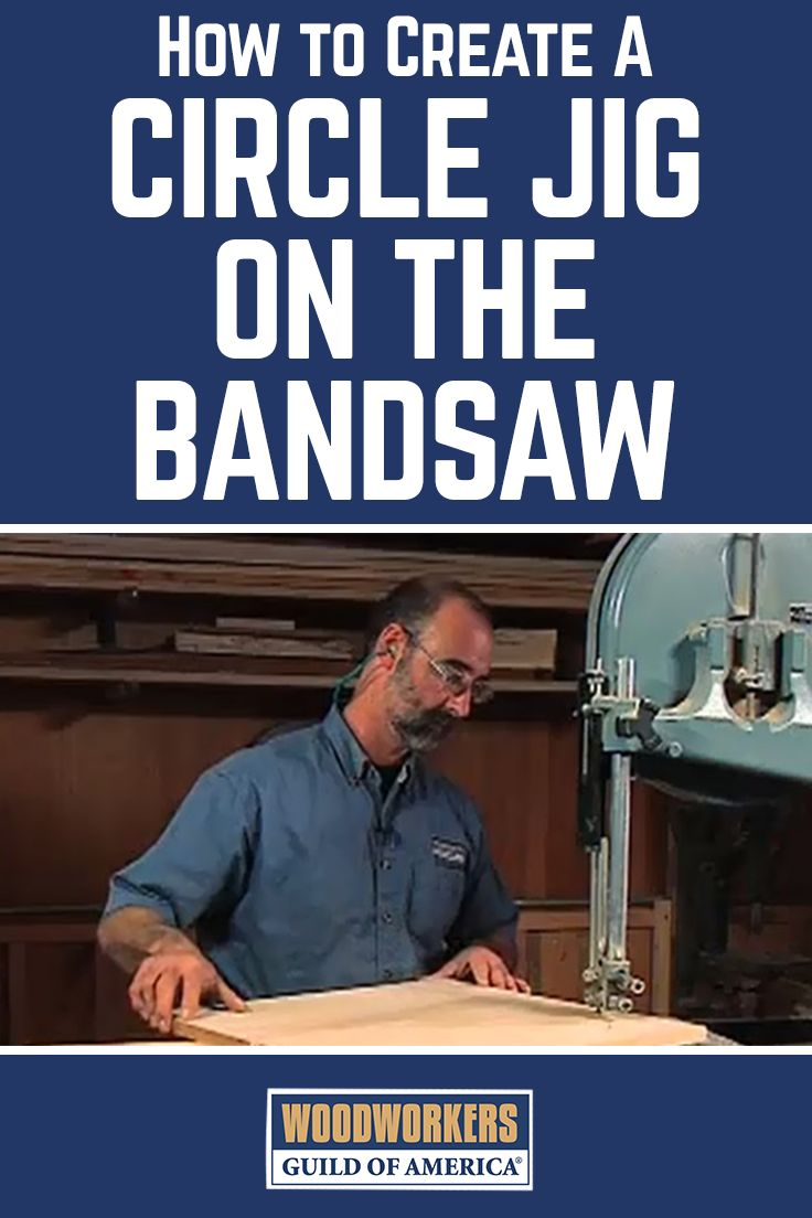 George Vondriska shows his shop-made circle jig solution for cutting a perfect circle on a band saw. A WoodWorkers Guild of America original video.