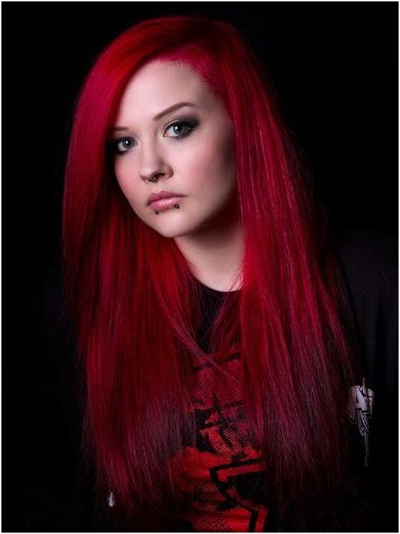Directions Coloring hair balsam - Pillarbox red #haircolor #brighthair #directions #lariche #gothichair #hairfashion #hairspiration #gothichairstyle #coloredhair #hairdye #hairdye #brighthair #girlwithdyedhair | Fantasmagoria.eu - Gothic Fashion boutique