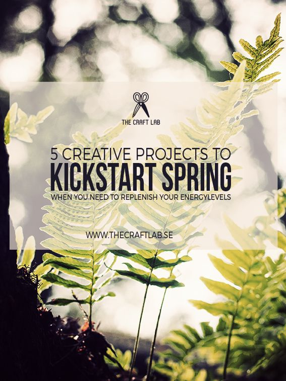 Has the cold weather kept you indoors all winter and all you want is sun and green foliage?  To replenish those energy levels, we have gathered a few creative project ideas with a botanical theme to get you ready for spring.