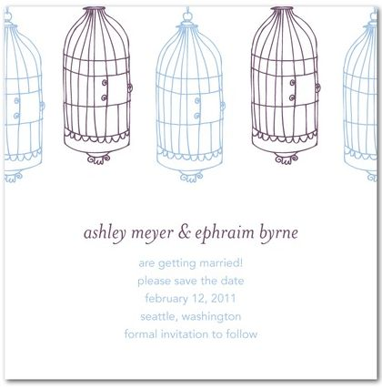 wedding invitations - purple
