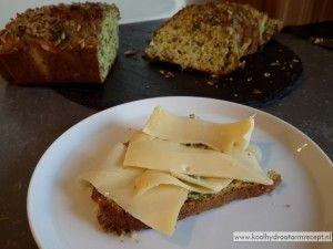 Koolhydraatarm courgettebrood
