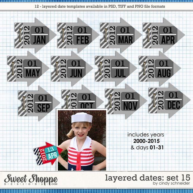 Cindy's Layered Dates: Set 15 by Cindy Schneider