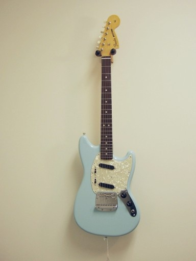 You will be mine--oh yes, you will be mine.  Fender Mustang reissue in Daphne Blue.