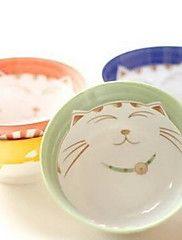 ceramica giapponese vestito stoviglie plutus piatto gatto ciotola