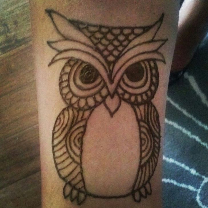 This Is How Owl Henna Tattoo Will Look Like In 7 Years Time Owl Henna Tattoo In 2020 Henna Designs Henna Tattoo Designs Henna Designs Easy