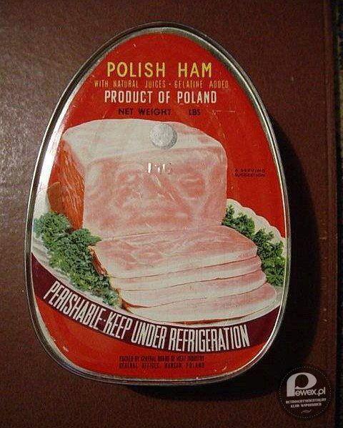 Szynka w puszce - Old polish ham in a container