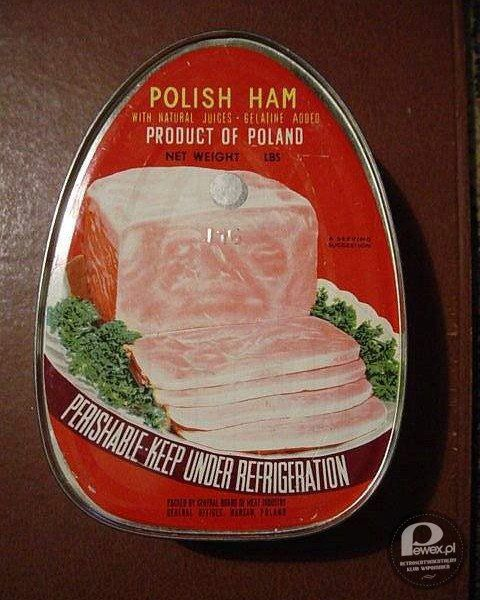 Szynka w puszce - Old polish ham in a container