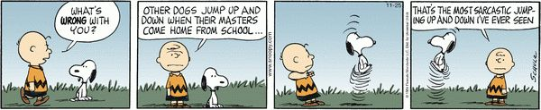 Snoopy - sarcasm