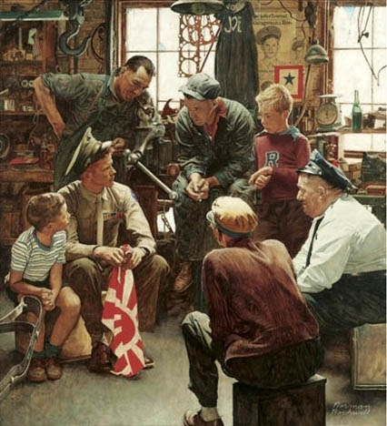 Marines Homecoming, Norman Rockwell.